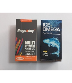 MegaXday 30 tablet Ametis Ice Omega 1000 Mg 60 Kap