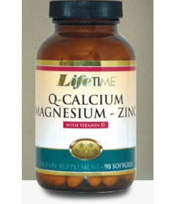 Life Time Q-Calcium Magnesium Zinc with Vitamin D Softgels