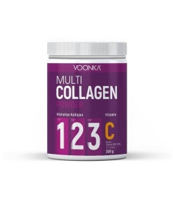 Voonka Multi Collagen Powder + Vitamin C 300 gr Tip 1, Tip 2, Tip 3 Hidrolize Kollajen