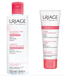 Uriage Tolederm Creme T 50 ml | Micellaire Thermale Ps 250  ml Set